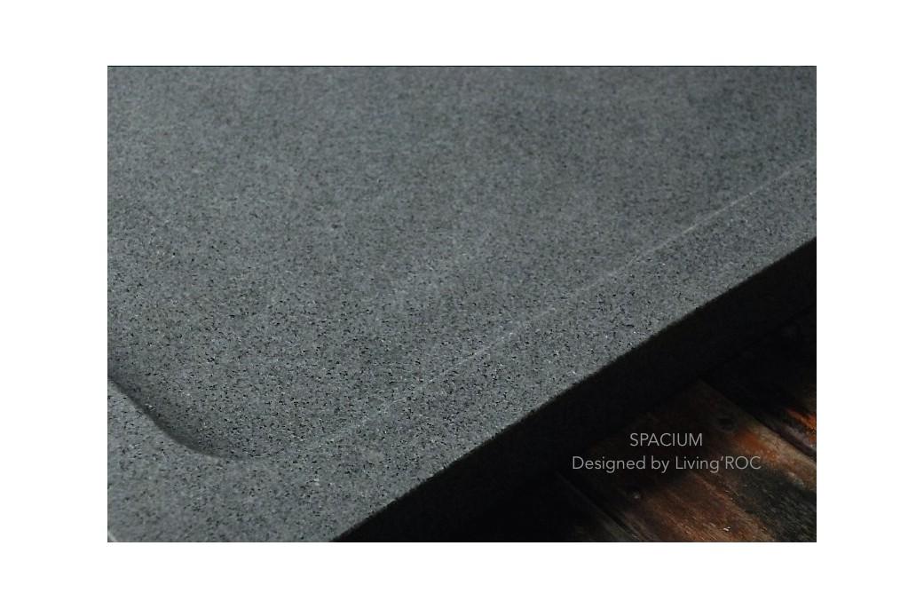 receveur de douche design en pierre spacium granit v ritable 140x90cm. Black Bedroom Furniture Sets. Home Design Ideas