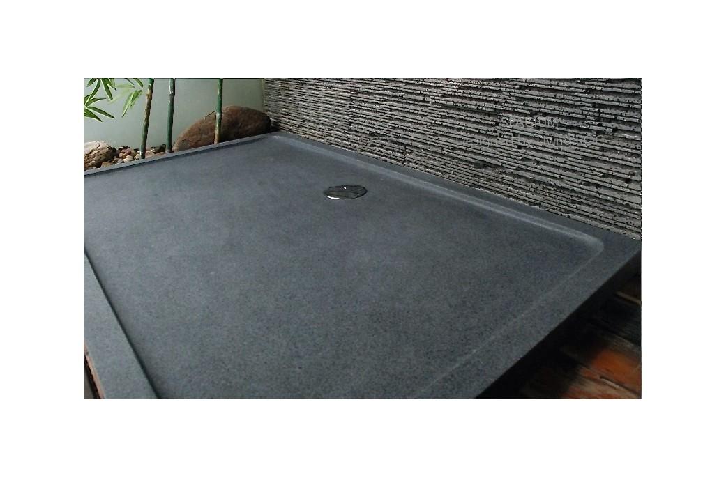 Receveur De Douche Design En Pierre Spacium Granit Veritable 140x90cm