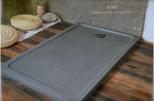 Receveur de douche 120x90 en pierre taillé dans le granit - RUBIX