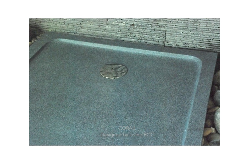 80x80 receveur de douche l 39 italienne pierre granit v ritable corail. Black Bedroom Furniture Sets. Home Design Ideas