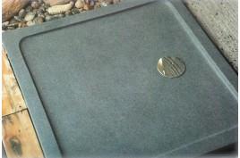 Bac de douche à l'italienne 80x80 en pierre granit véritable CORAIL