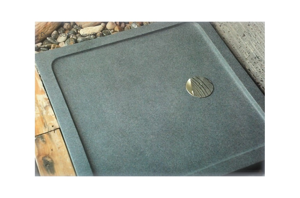 80x80 Receveur de douche à l'italienne pierre granit véritable - CORAIL