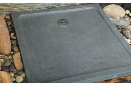 Receveur de douche 90x90 en granit véritable extra plat SERENA