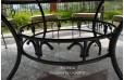Table de jardin ronde 125-160 mosaïque de marbre FLORIDE