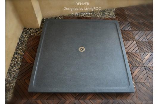 Receveur de Douche 107x107 en Pierre Granit Extra Plat - CHICAGO