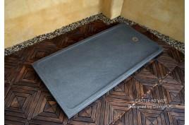 Receveur de douche Pierre géant 200x100 taillé dans le granit CASTLE