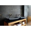 Vasque salle de bain en pierre de basalt Gris BALI MOON