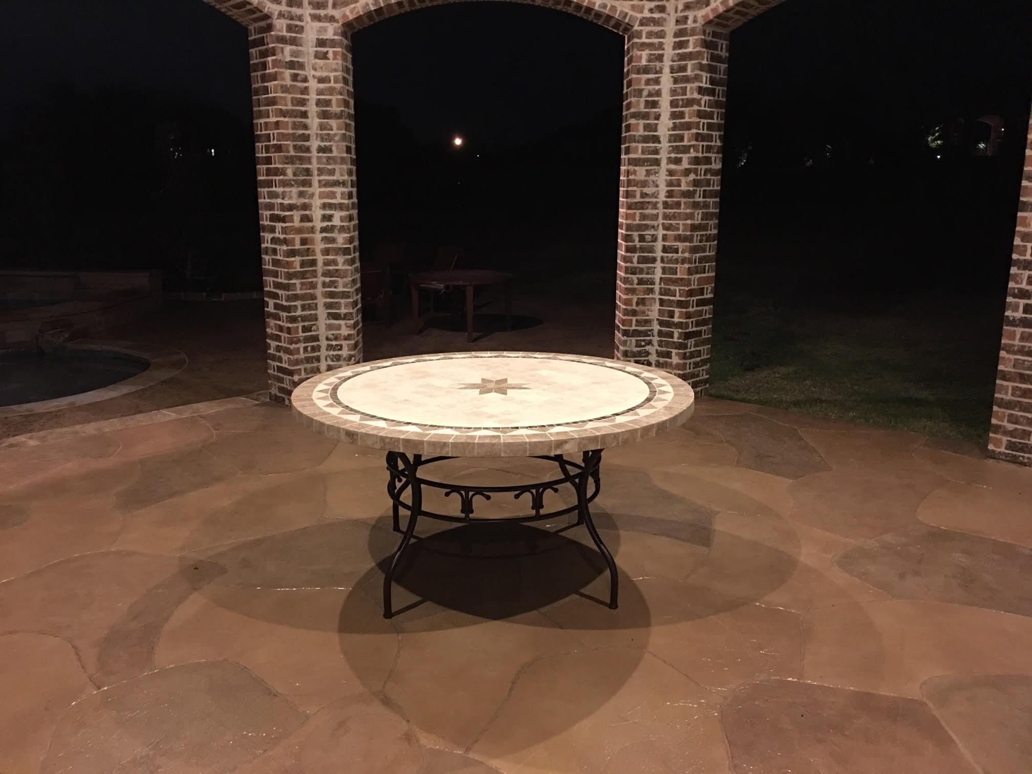 Table De Jardin Mosaique Pierre Ronde Mosaique Marbre 125 160 Mexico