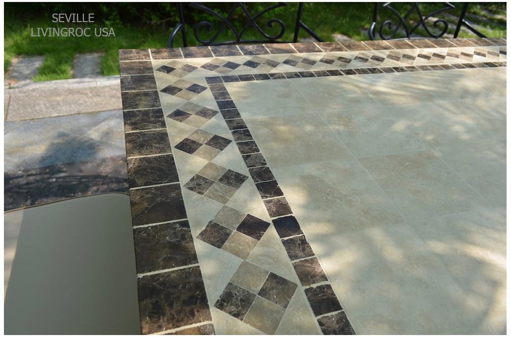 beautiful table de jardin mosaique marbre ideas. Black Bedroom Furniture Sets. Home Design Ideas