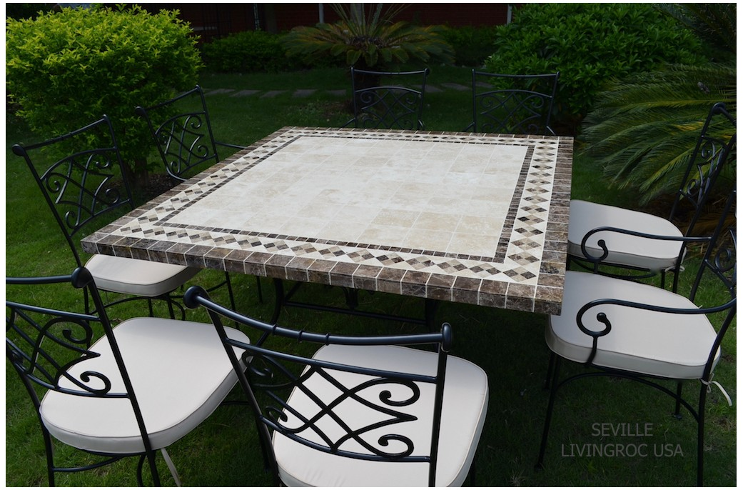 Beautiful Table De Jardin Mosaique Marbre Photos - House ...