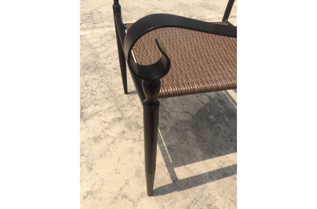 Chaise en fer forg et r sine haut de gamme florida living 39 roc - Chaise en fer forge ...