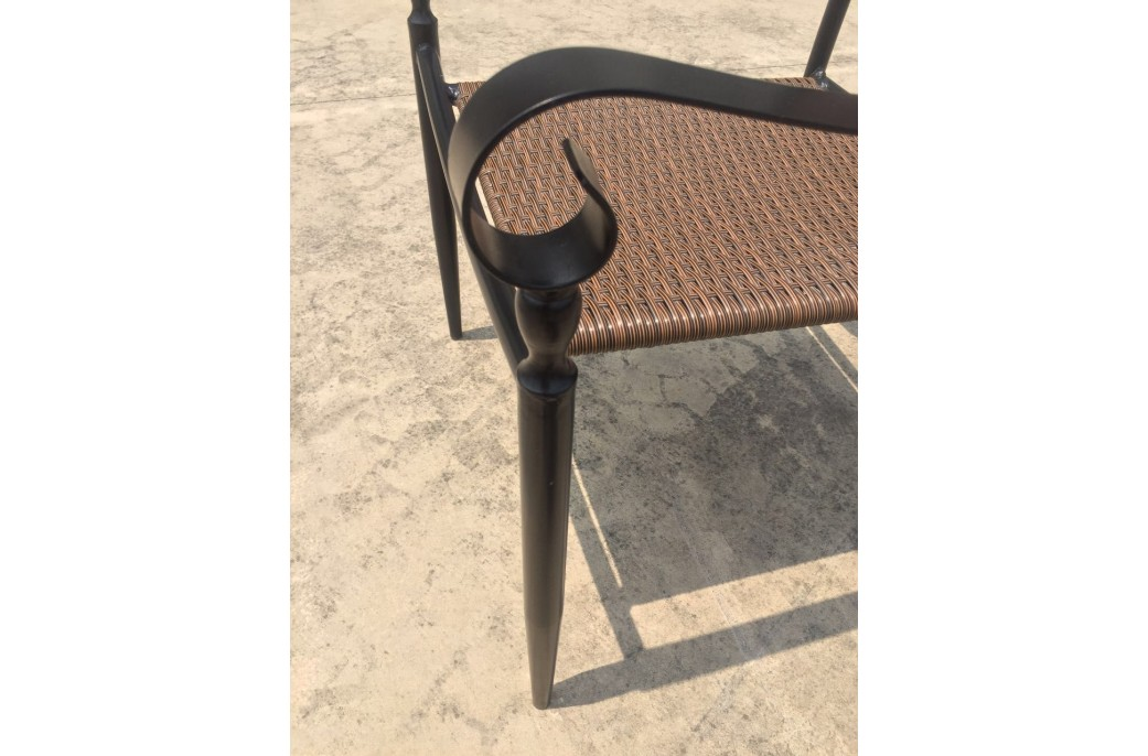 Chaise en fer forg et r sine haut de gamme florida for Chaise en fer forge