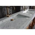 Double vasque blanche marbre de Carrare véritable FOLEGE WHITE