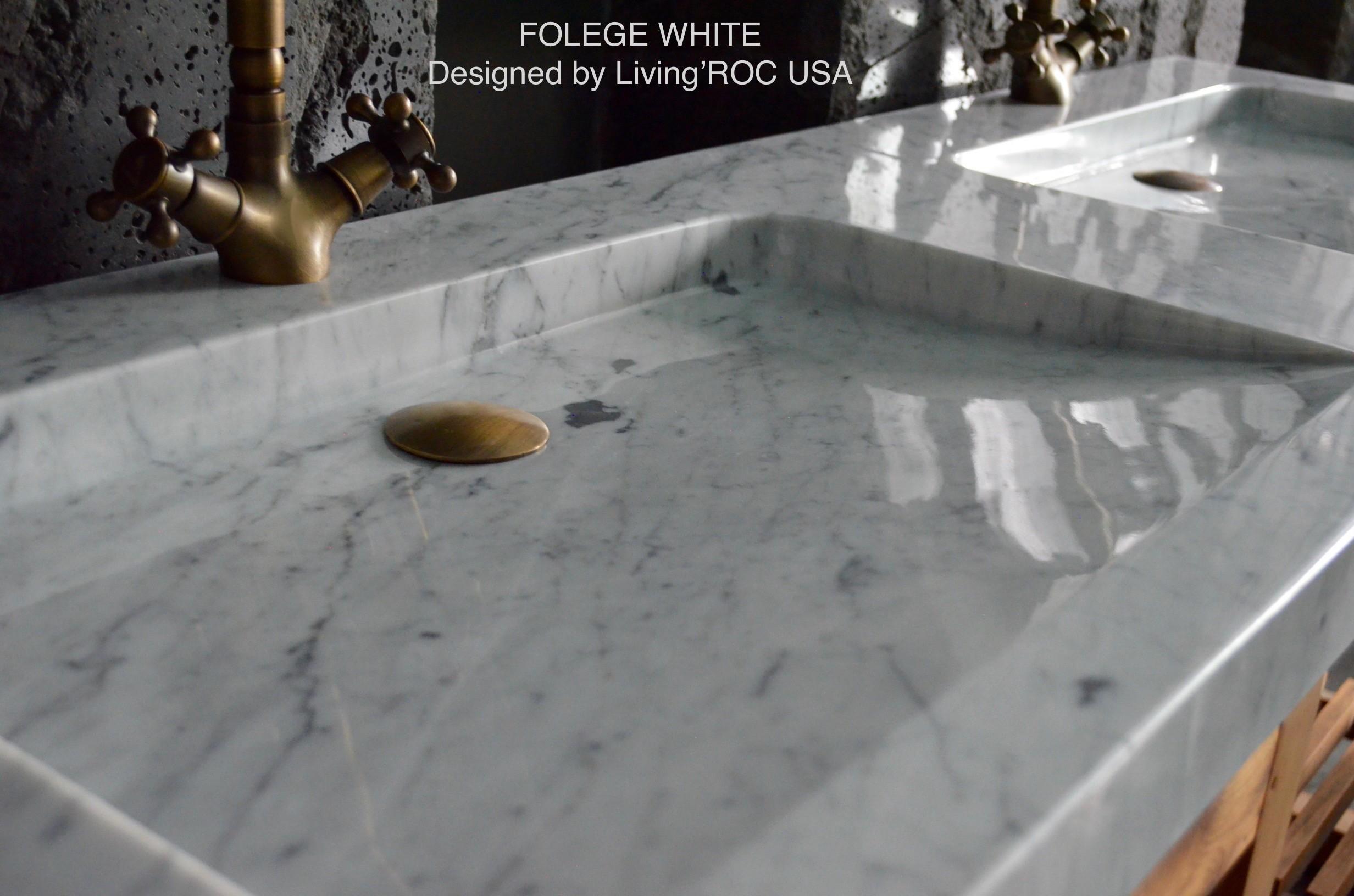 Salle De Bain Marbre De Carrare double vasque salle de bain marbre de carrare folege white