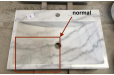 Vasque salle de bain en marbre Blanc Pierre naturelle PEGASUS WHITE