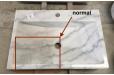 Vasque marbre blanc pierre naturelle véritable Dia 40 RONDO WHITE