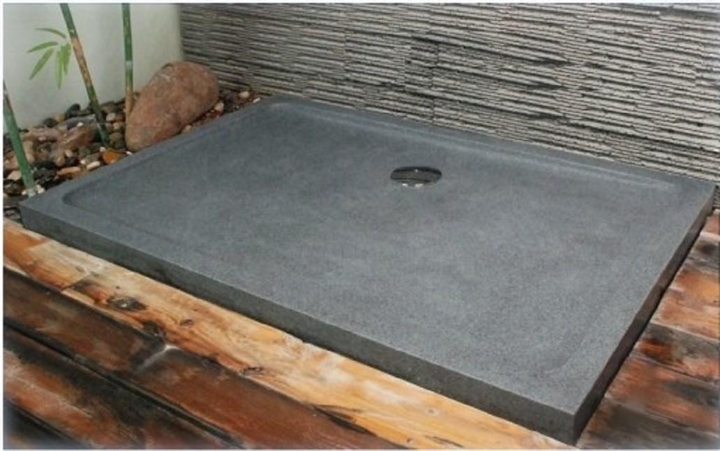 receveur de douche 120x90 en pierre taille dans le granit rubix