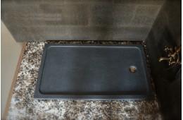 Receveur de douche 120x90 en pierre taillé dans le granit RUBIX