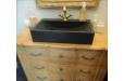 Vasque en pierre salle de bain noire 60x40 PEGASUS SHADOW