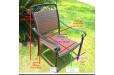 Chaise en fer forgé et résine tressée Déco - FLORIDA