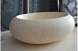 Vasque en marbre à poser pierre oblongue COCOON SUNNY