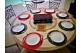 Table de jardin ronde mosaïque de marbre 125-160 ALICANTE